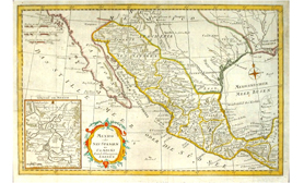 Map Mexico 1780